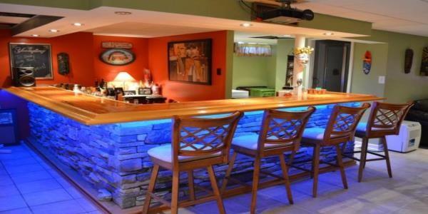 Home bar photos easy home bar plans Do it yourself bars for basements