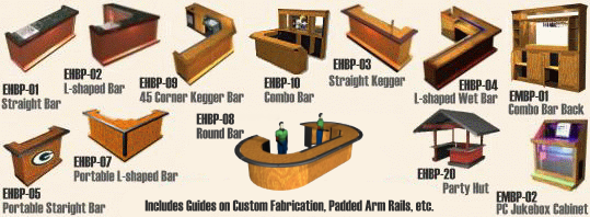 Easy Home Bar Plans Printable PDF Designs