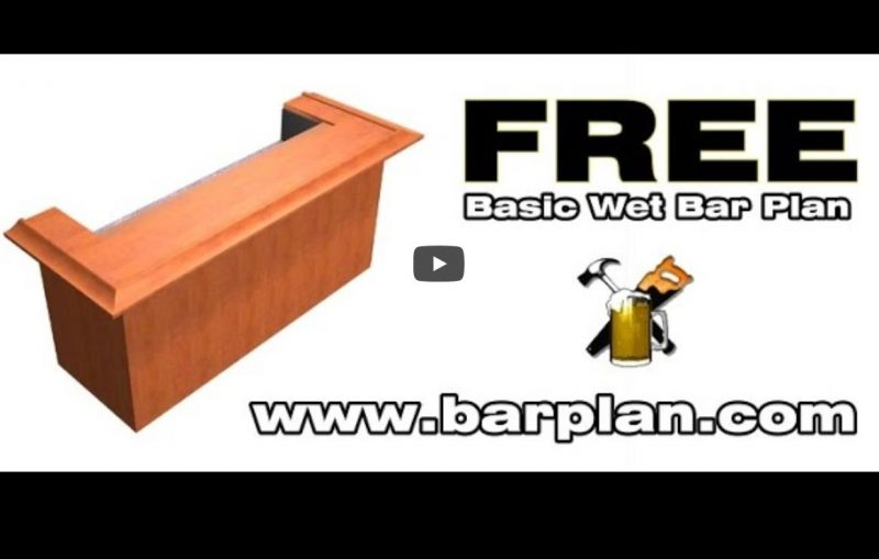 Free Bar Plan | Easy Home Bar Plans