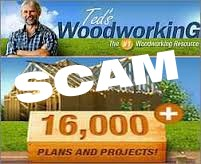 Ted's Woodworking Offer is a Scam