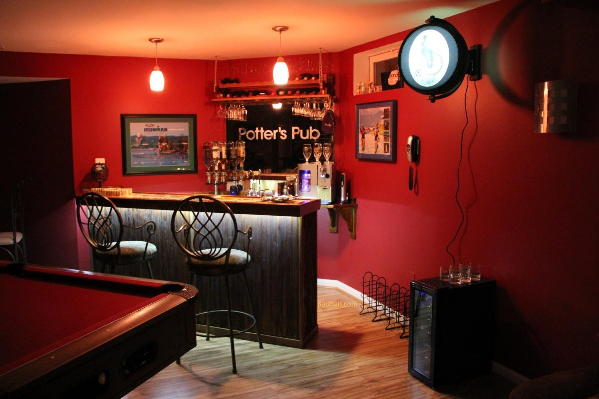 small home bar idea