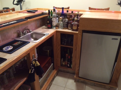Recent Home Bar Projects   Easy Home Bar Plans