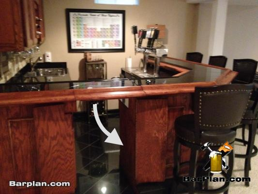 flapper door for home bar