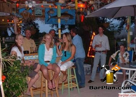 girls at patio bar party