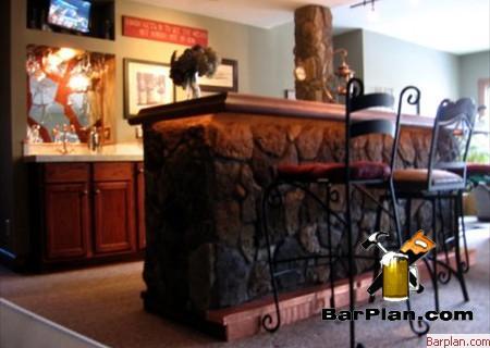 field stone bar