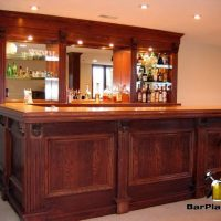 corbels and trim home bar