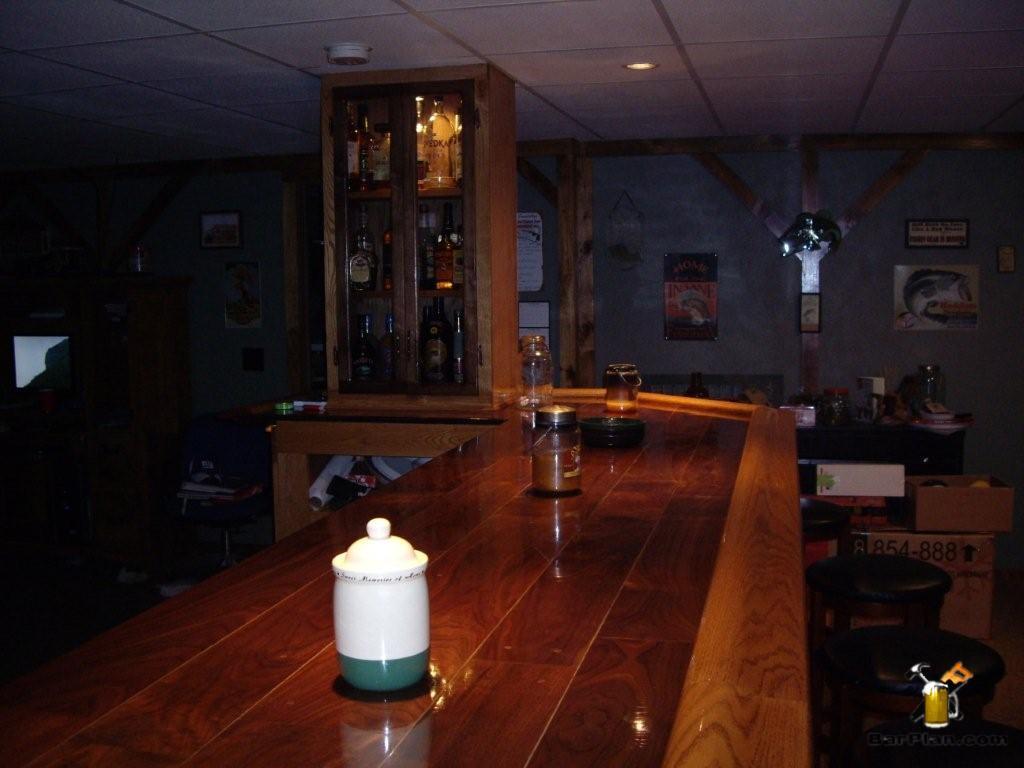 wood florring bar top