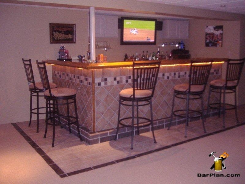tile applied to home bar