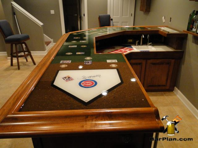 cubs autographed home plate