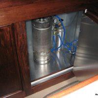 bar back with draft beer keg box