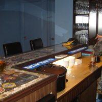 home bar drink prep area detail