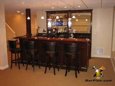 home bar plans for a combo bar