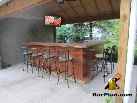 Awesome Tiki Bar Tropical Tiki Bar Design · Backyard Bar Built Under Canopy  Roof