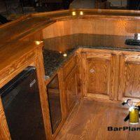 oak home wet bar