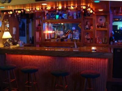 custom home bar layout with bar back