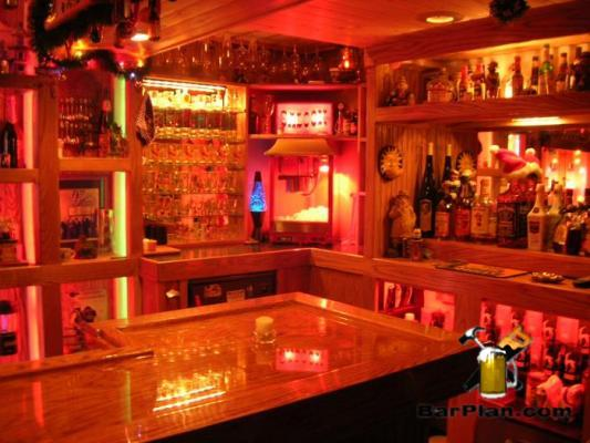 the authors home bar