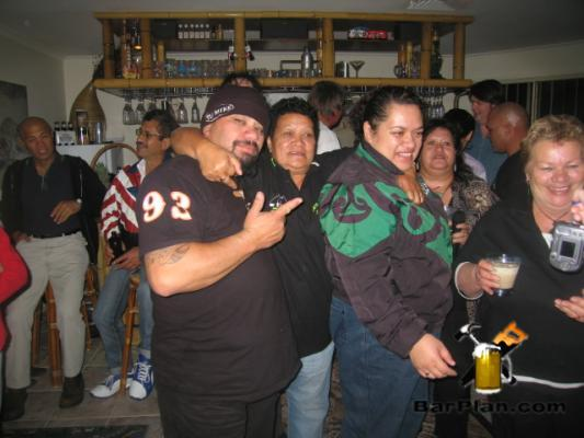freidns having fun at home bar