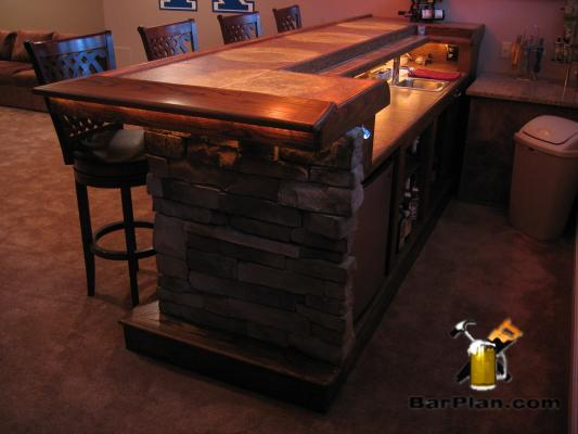 EHBP-03 Straight Wet Bar with Keg Box 17