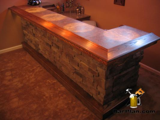 EHBP-03 Straight Wet Bar with Keg Box 16