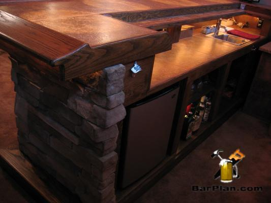 EHBP-03 Straight Wet Bar with Keg Box 14