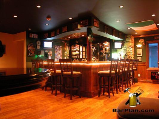 Irish Pub Built in Garage