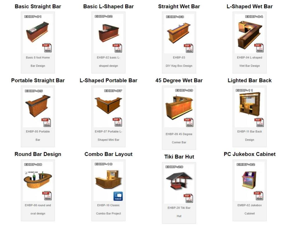 easy home bar plan design collection grid 12