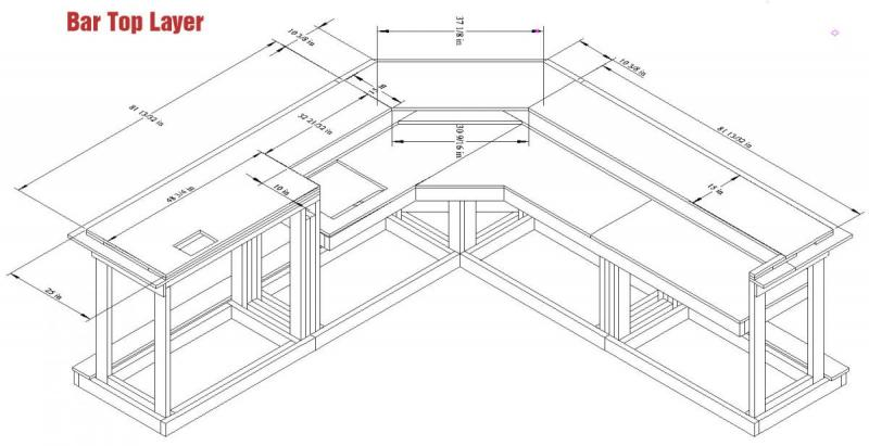 home bar plan assembly diagram