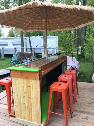 tiki bar built on deck