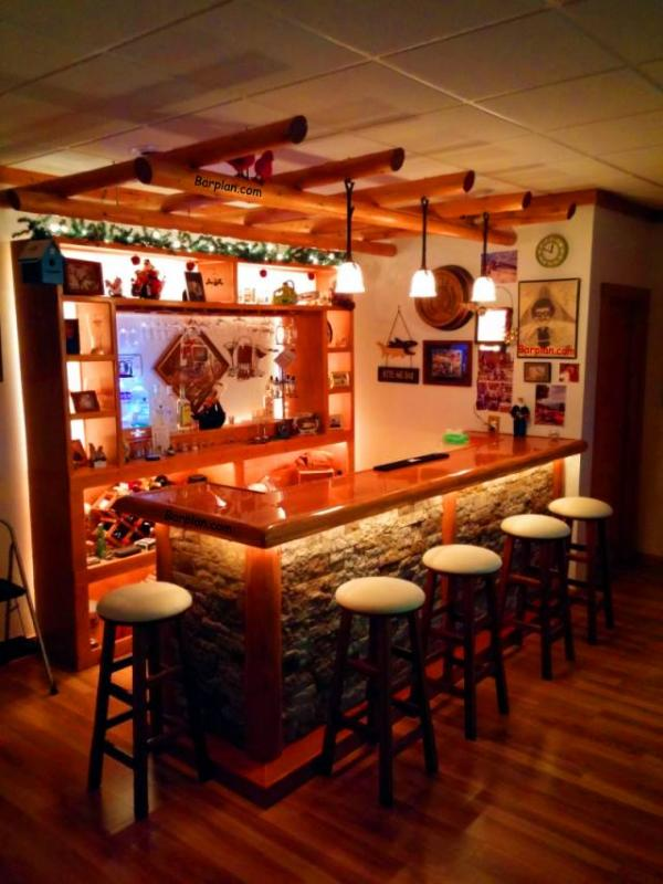 Rustic Home Bar Combo