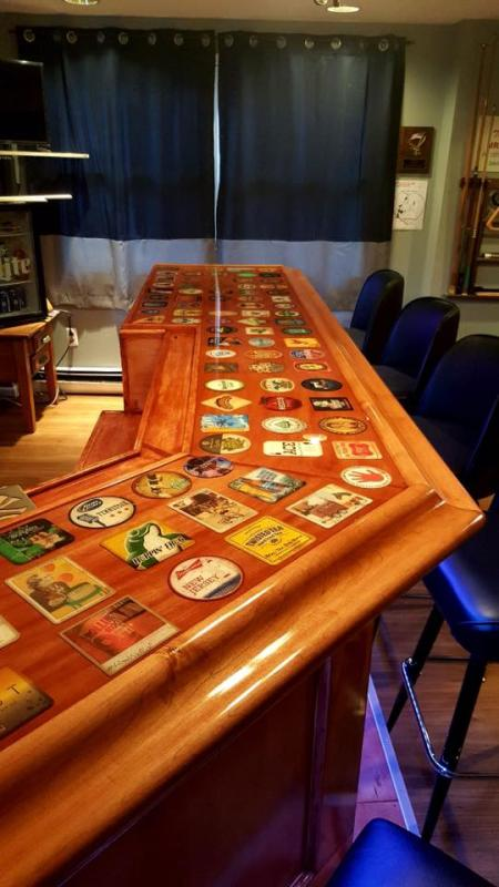 decoupage bar top