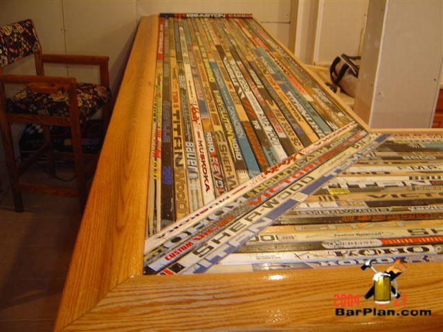 hockey stick bar top