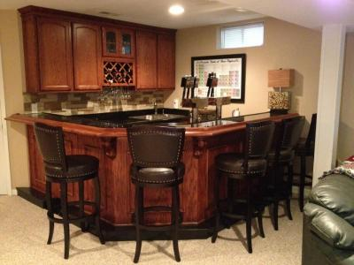 45 degree corner wet bar