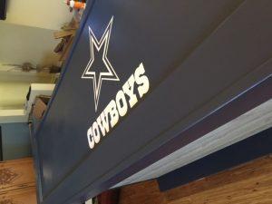 dallas cowboys themed home bar