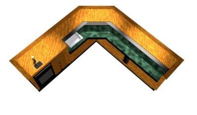 EHBP-09 45 Degree Angled Corner Wet Bar 1