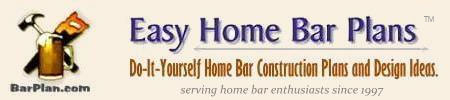 easy home bar plans logo