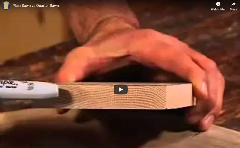 Quarter Cut vs. Plain or Rift Cut Lumber