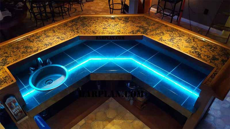 Build a Home Bar with the Easy Home Bar Plan Designs 2