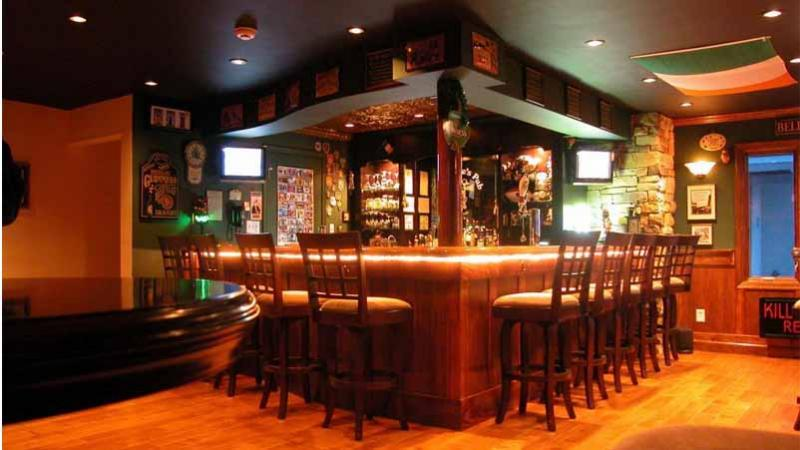 Irish pub built in garage