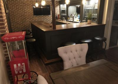 u shaped home bar