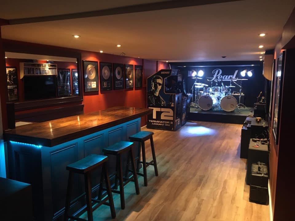 rock bar with stage