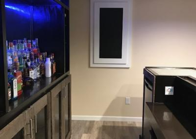 pallet wood bar accents
