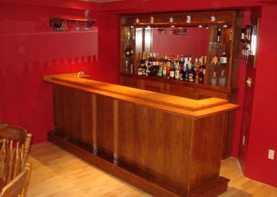 the drunken skunk finished bar top