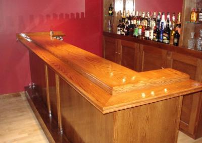 drunken Skunk bar top detail