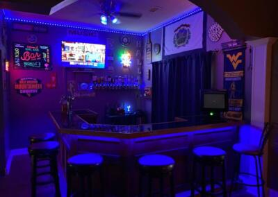 karls cool blue home bar